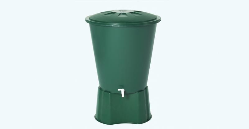 KEREK zöld esővízgyűjtő, 210 L