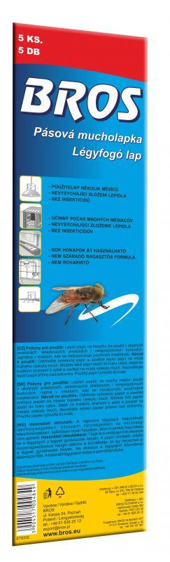 Légyfogó lap 10x32 cm 5 db/csomag