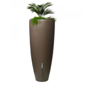 2IN1 kávébarna színű esővízgyűjtő növénytartóval, 300 L