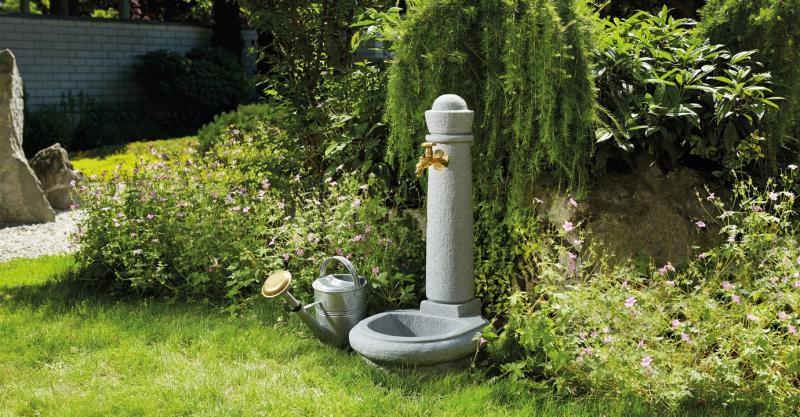 Venezia kerti vízkút állvány gránit