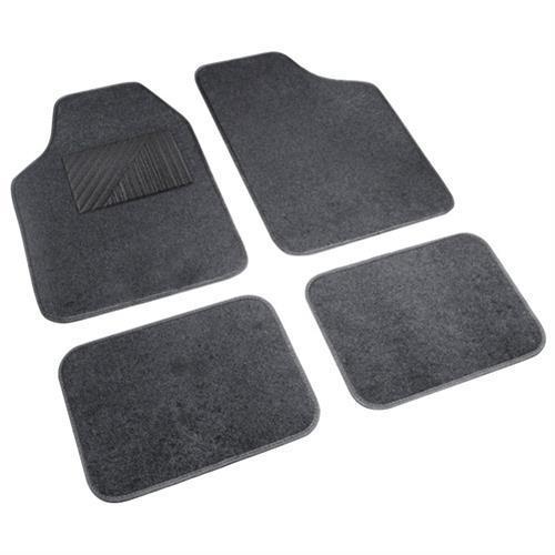 4db-os antracit szürke Cosmo textil szőnyeg szett, taposóbetéttel.
