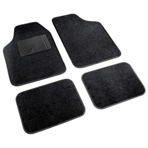 4db-os feteke Comso textil autószőnyeg szett, taposóbetéttel.