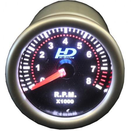 Autó sport műszer fordulatszám mérő fehér háttérvilágítással OR-LED2705 SELF-CHECK