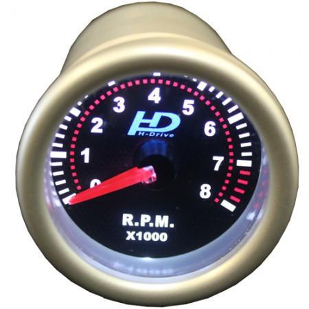 Autós sport Műszer fordulatszám mérő króm lencse OR-LED7705-1