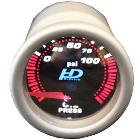 Autós sport Műszer olajnyomásmérő króm lencse OR-LED7704-1