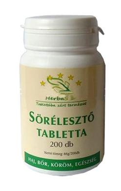 Sörélesztő tabletta (200db)