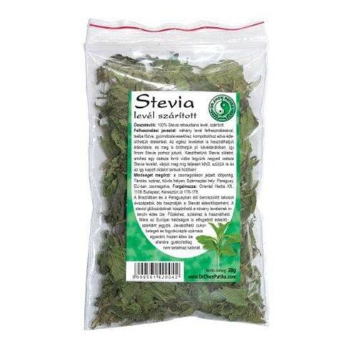 Stevia morzsolt levél
