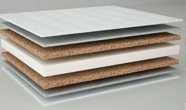 Kombinált kókusz-szivacs matrac 60x120 cm