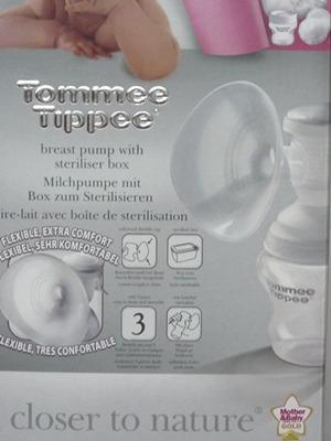 Mellszívó Tommee Tippee kézi +melltartó betét