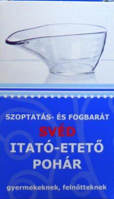 Svéd itató-etető pohár