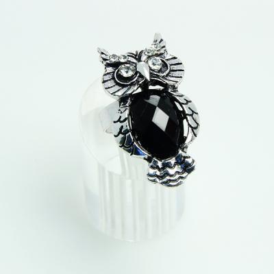 Bagoly gyűrű fekete köves