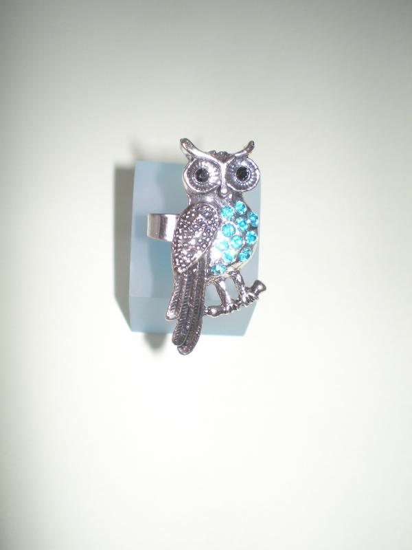 Bagoly gyűrű kék