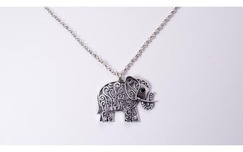 Elefánt medál + lánc