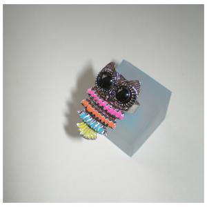 Zománc bagolygyűrű színes