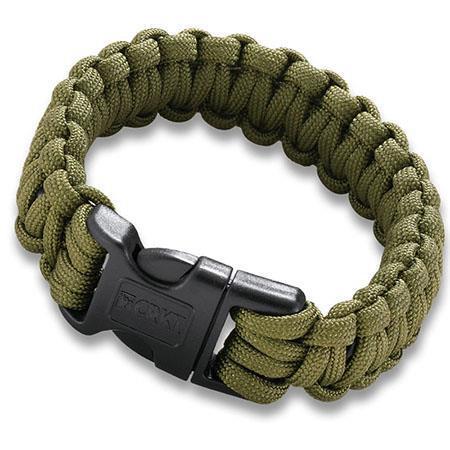 CRKT Green Paracord karkötő  fűrész L