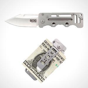 SOG CashCard Black pénzcsipesz zsebkés