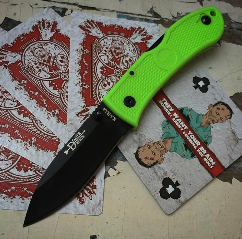 Ka-Bar Dozier Folding Hunter Zombie Green zsebkés