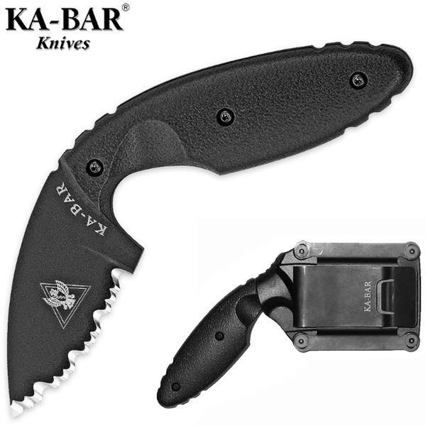 Ka-Bar TDI Law Enforcement Black R taktikai kés