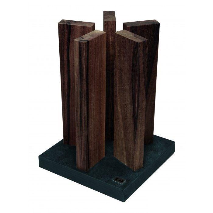 Kai Stonehenge késtartó blokk diófa / gránit talpal