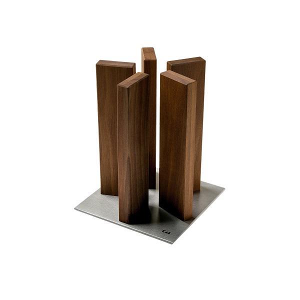 Kai Stonehenge késtartó blokk diófa/rozsdamentes acél talppal