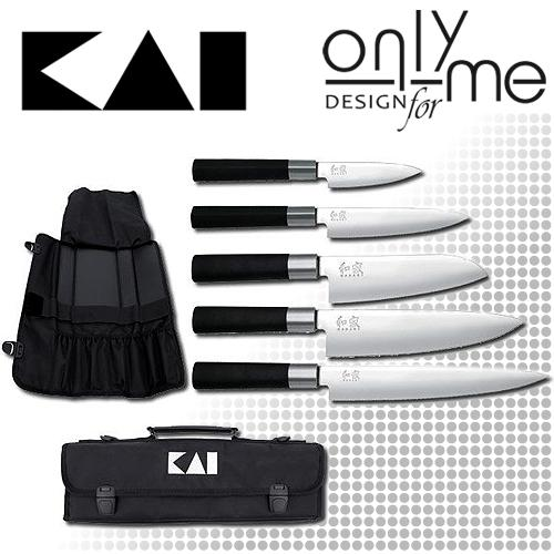 Kai Wasabi Black Európai szakácskés szett táskával