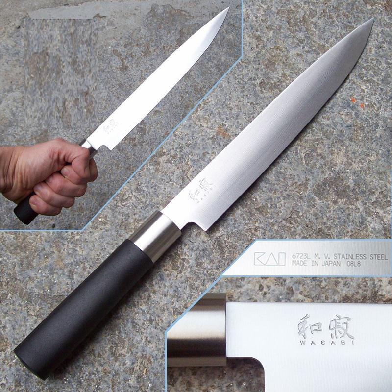 Kai Wasabi Black szeletelő konyhakés 23 cm