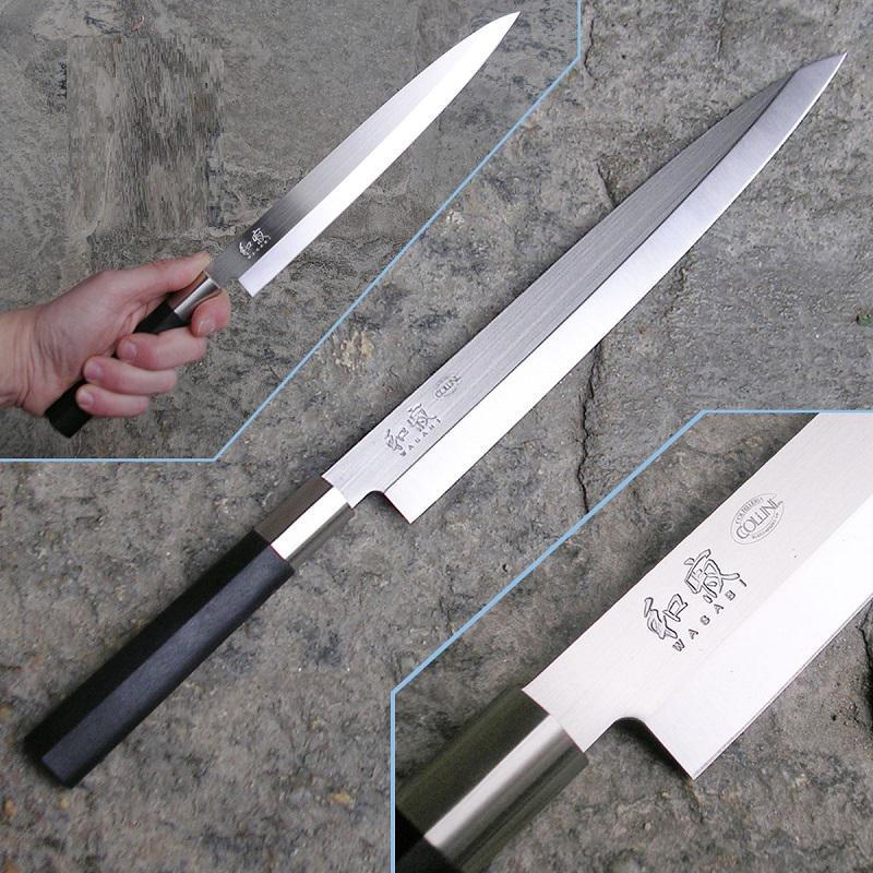 Kai Wasabi Black Yanagiba halszeletelő konyhakés 24 cm