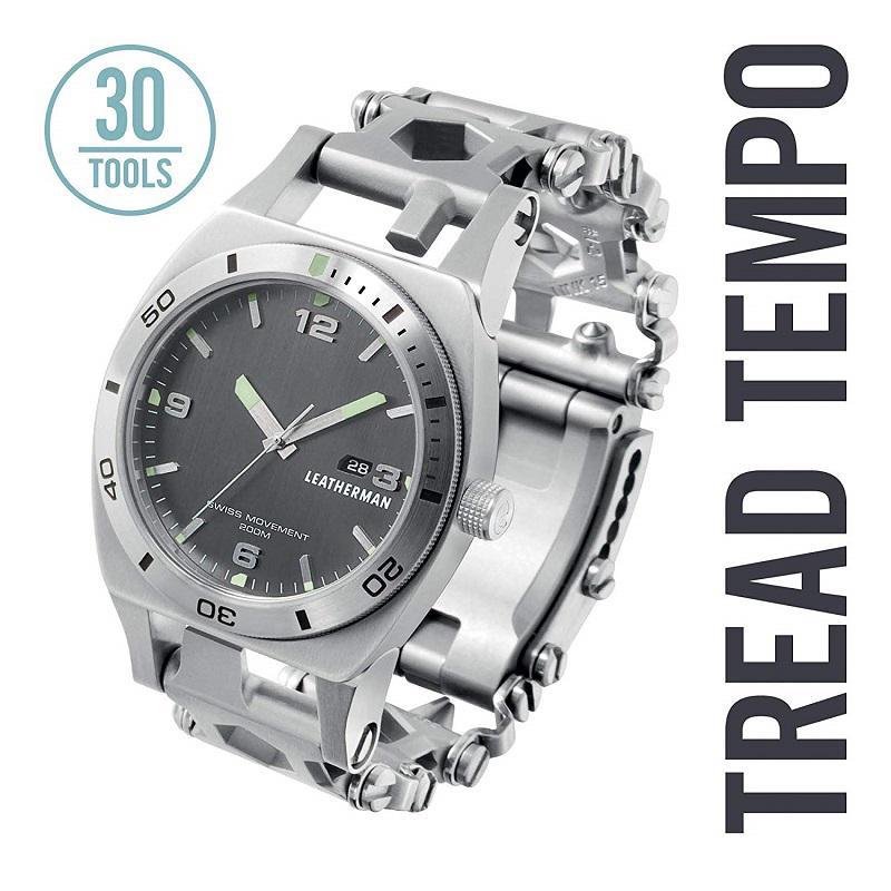 Leatherman TREAD TEMPO multiszerszám óra Stainless Steel