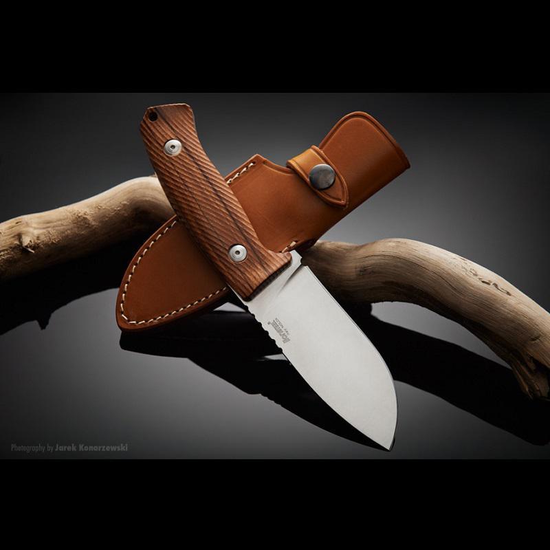LionSteel M3 Santosfa markolatú vadászkés outdoor kés