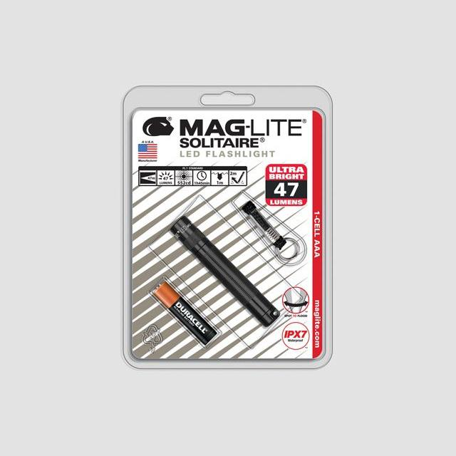MAGlite Solitaire LED Black elemlámpa