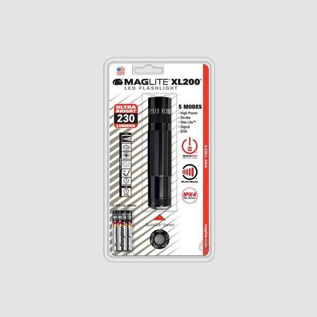 MAGlite XL200 LED Black elemlámpa