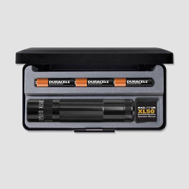MAGlite XL50 LED Black elemlámpa díszdobozban