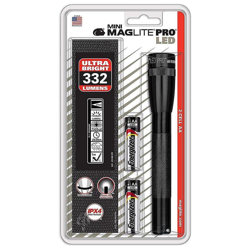 Mini MAGlite AA Pro LED Black elemlámp +övtok