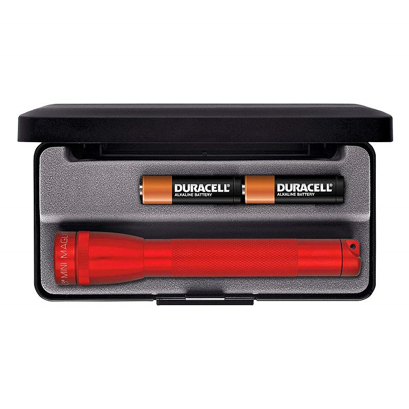 Mini MAGlite AA Red elemlámpa díszdobozban