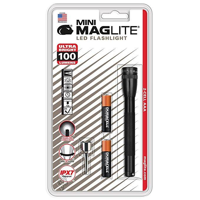 Mini MAGlite AAA LED Black elemlámpa