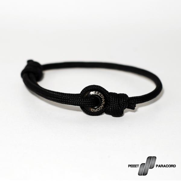 Peeet Paracord Club Dark Black karkötő