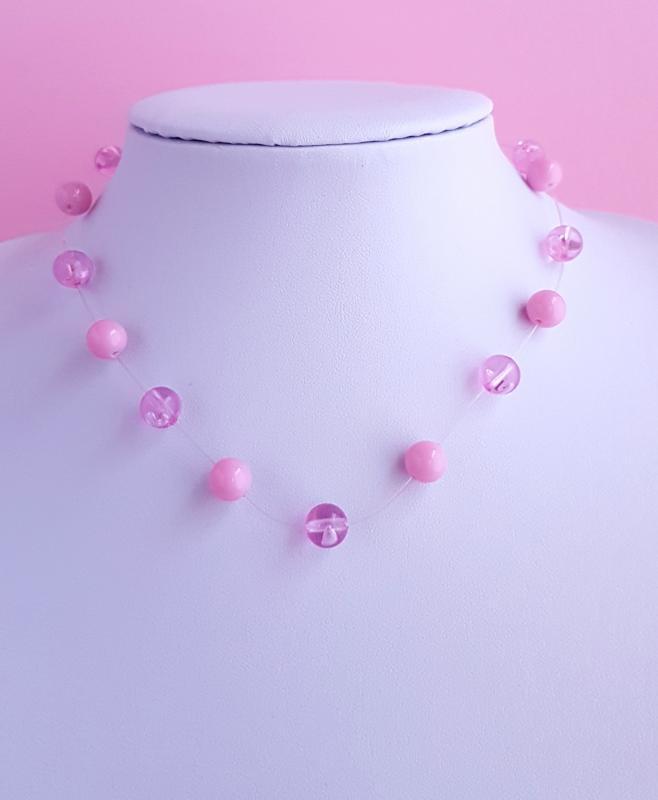 gyöngy nyaklánc /rózsaszín/