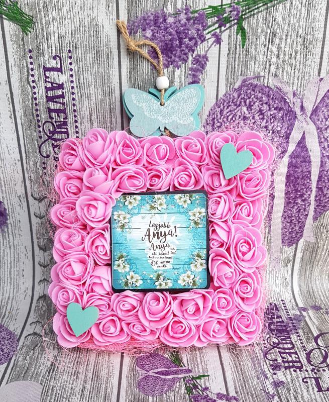 Legjobb Anya! - rózsás dekoráció akasztóval