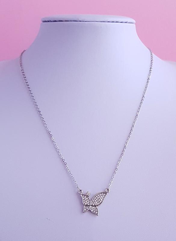pillangó medálos nyaklánc