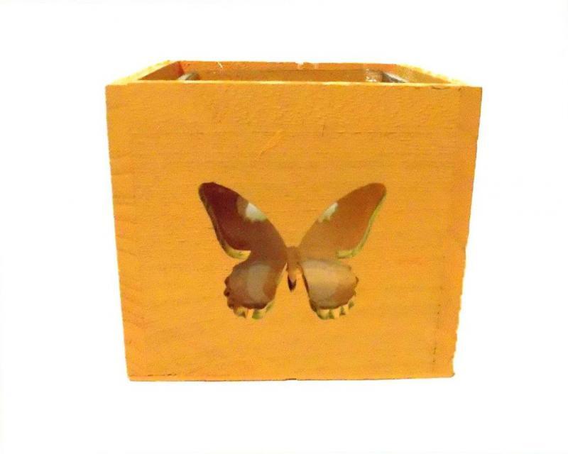 pillangós mécsestartó (sárga)