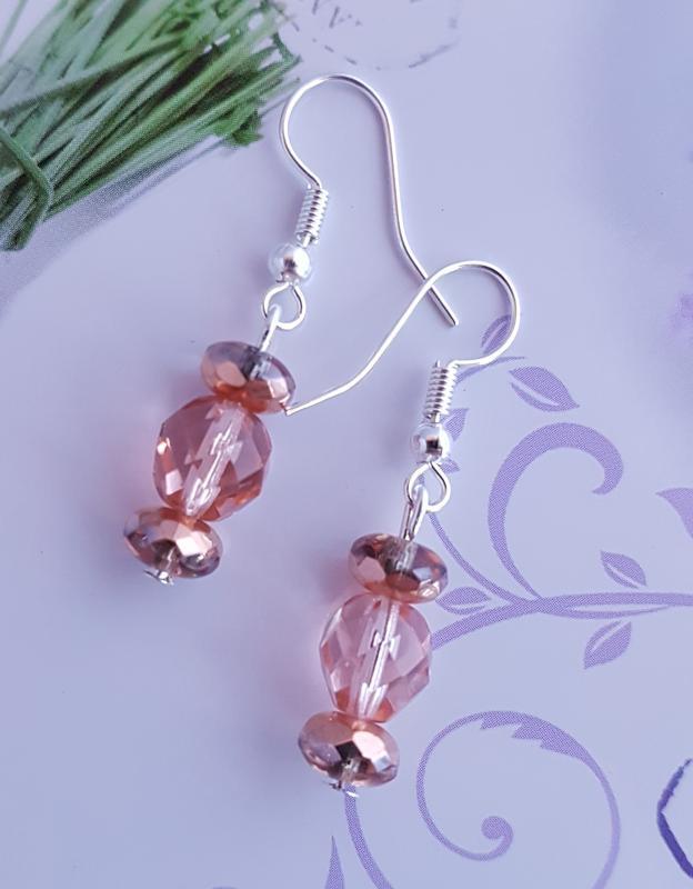 rosegold gyöngy  fülbevaló