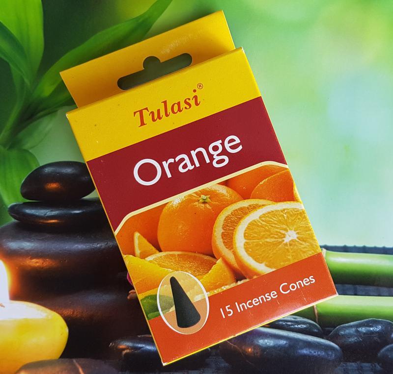 Tulasi kúpfüstölő - narancs
