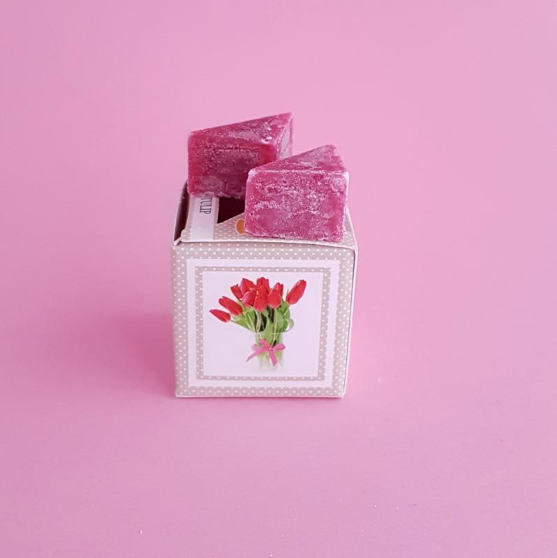 viaszkocka illatosító - tulipán