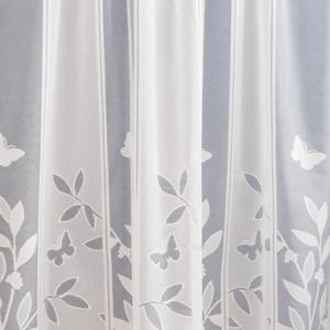 Jaquard vitrage függöny pálcára fűzhető