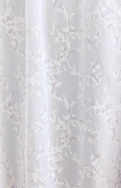 Apró virágos fehér voila kész függöny 200x110cm