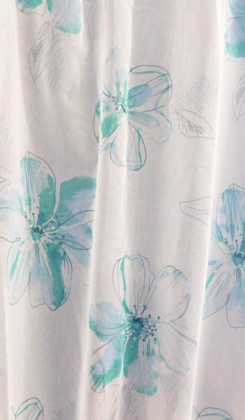 Baglyos fehér voila kész függöny 90x125cm