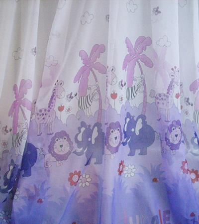 Dzsungel voila kész függöny 180x220cm lila