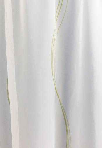 Ecrü voila kész függöny nyírt mintával Narancs Tulipán 100x190cm