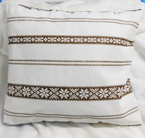 Egyszínű kiwizöld pamutvászon díszpárna