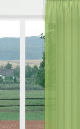 Egyszínű voila kész függöny 17 zöld 160x230cm